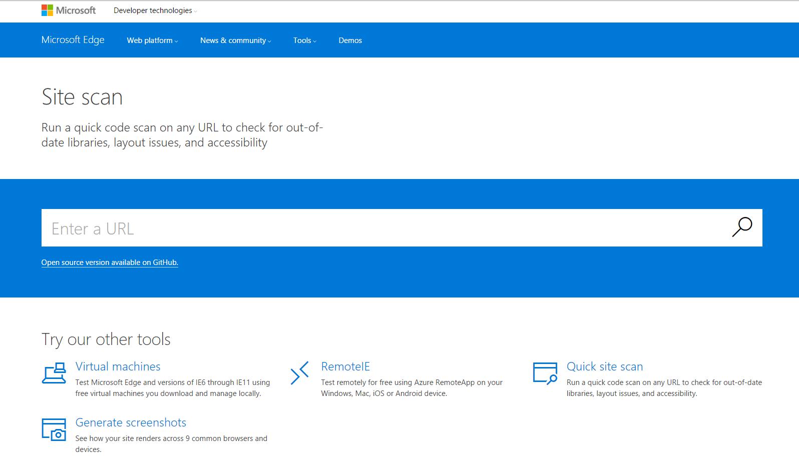 Microsoft Site Scan