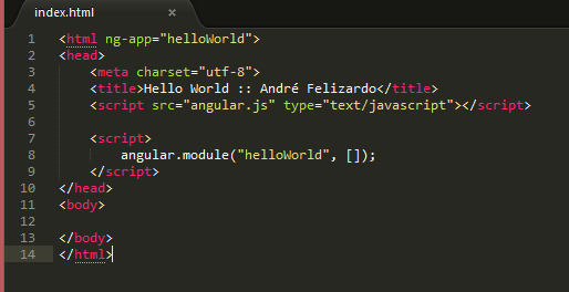 AngularJS - Hello World
