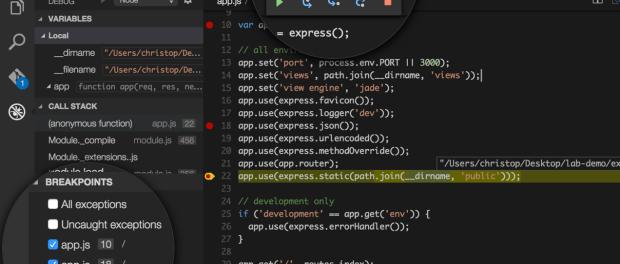 VS Code debugging