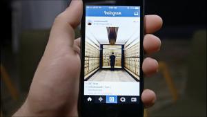 Instagram em um smartphone