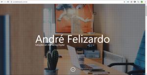 Screenshot site andrefelizardo.com.br